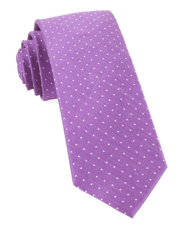 Rivington Dots Wisteria Tie