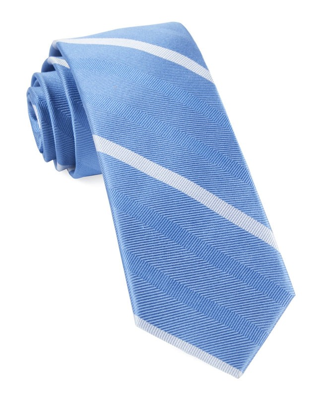 Goal Line Stripe Light Blue Tie