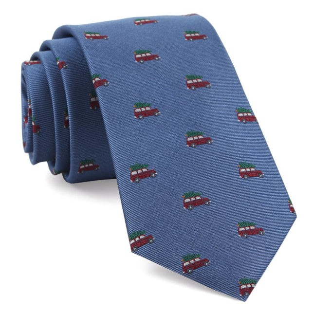 Christmas Vacation Light Blue Tie