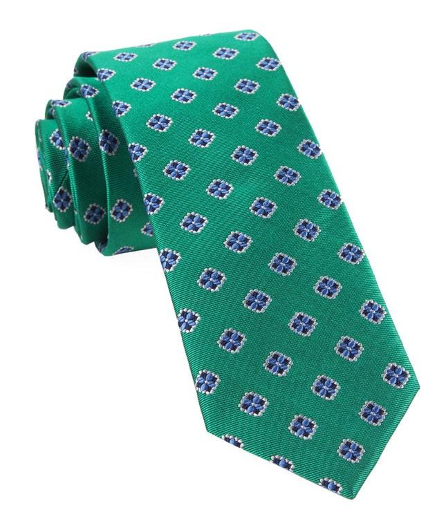 Hep Medallion Kelly Green Tie