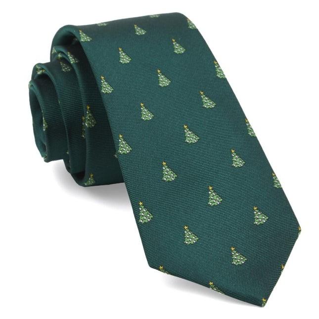 O Christmas Tree Hunter Green Tie