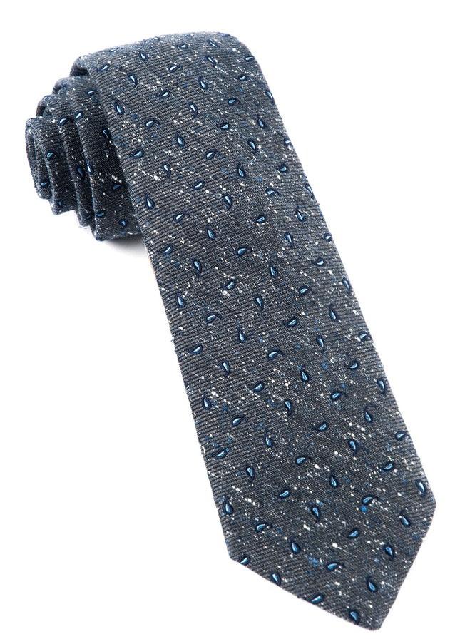 Paisley Timber Deep Slate Blue Tie