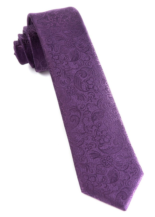 Ceremony Paisley Eggplant Tie