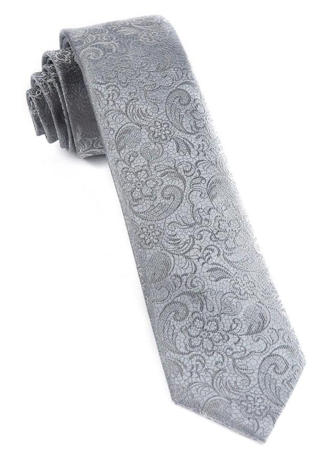 Ceremony Paisley Silver Tie
