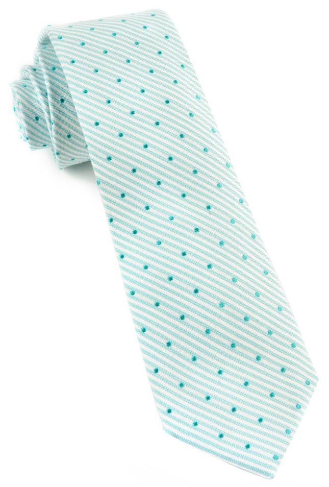Down The Aisle Dots Aqua Tie
