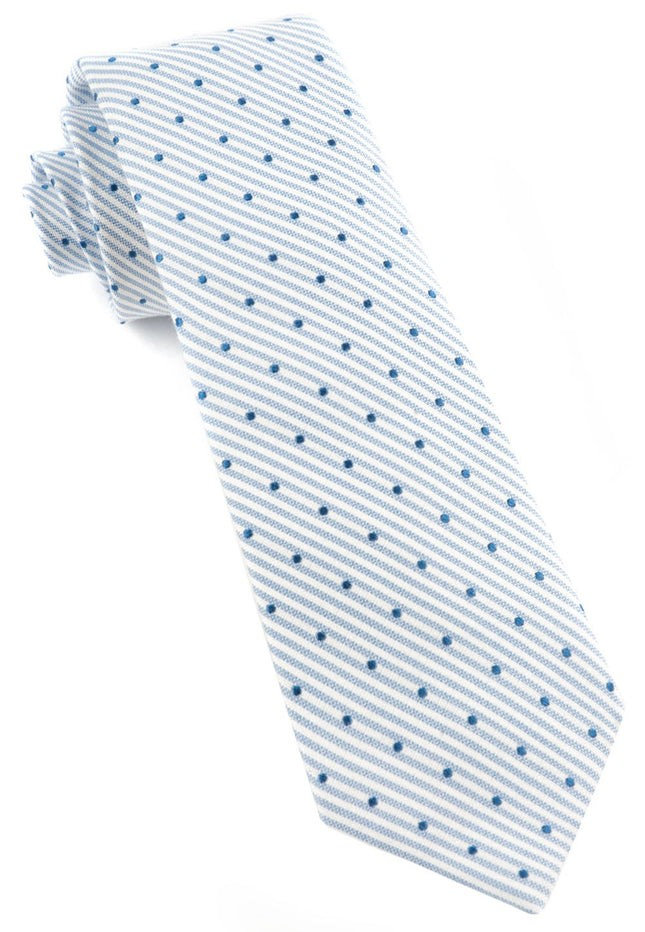 Down The Aisle Dots Classic Blue Tie