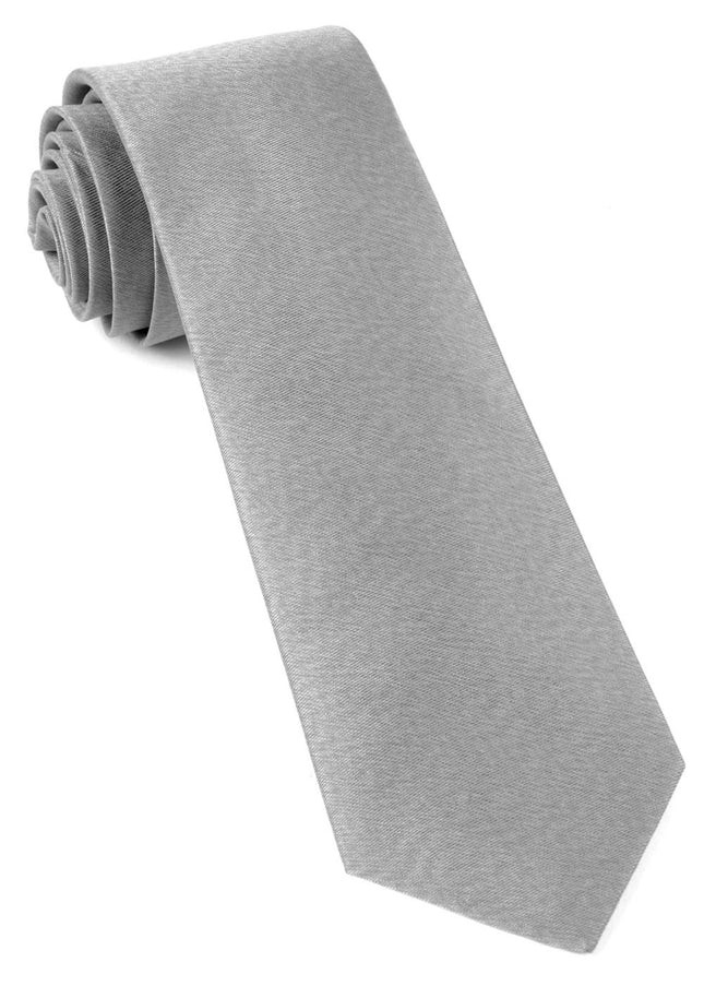 Melange Twist Solid Silver Tie