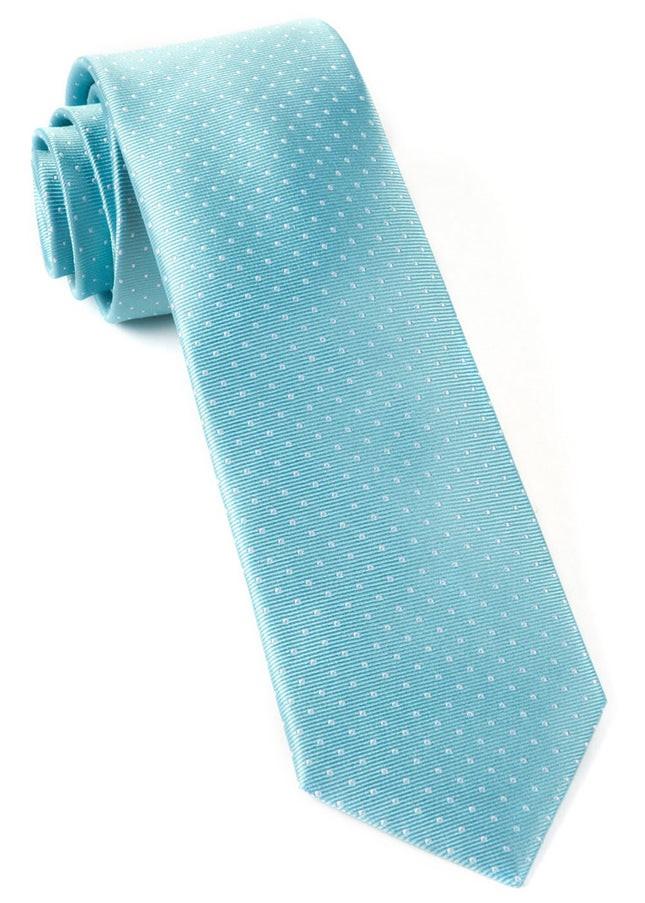 Mini Dots Pool Blue Tie