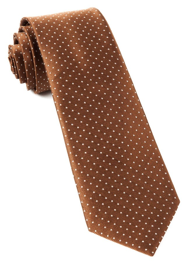 Mini Dots Brown Tie