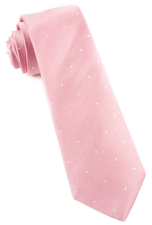 Satin Dot Baby Pink Tie