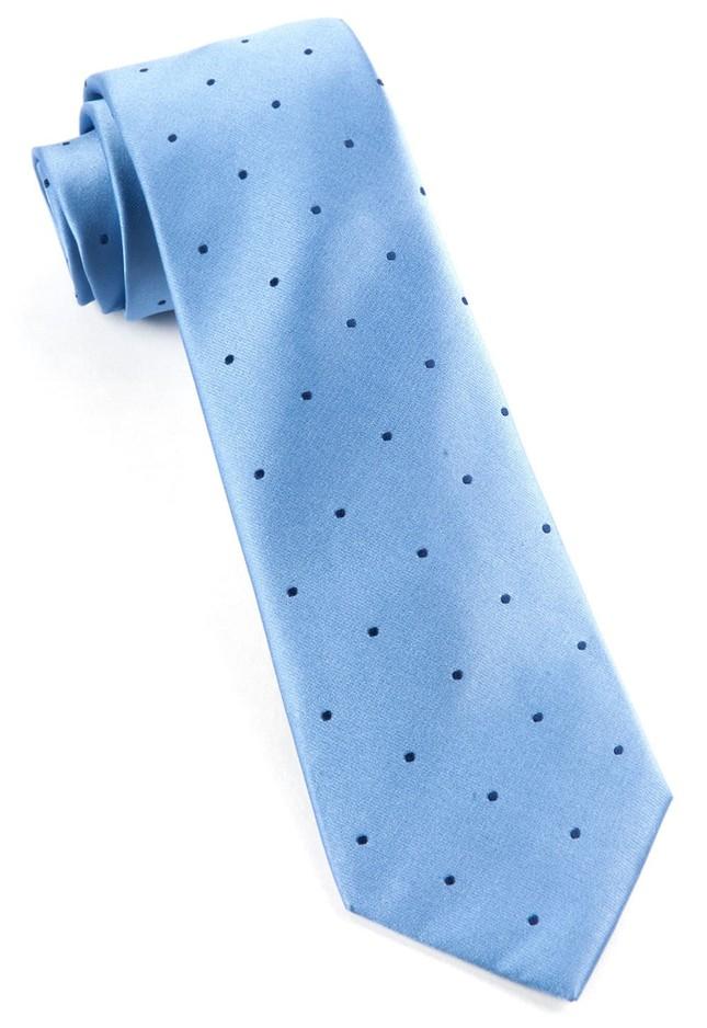 Satin Dot Light Blue Tie