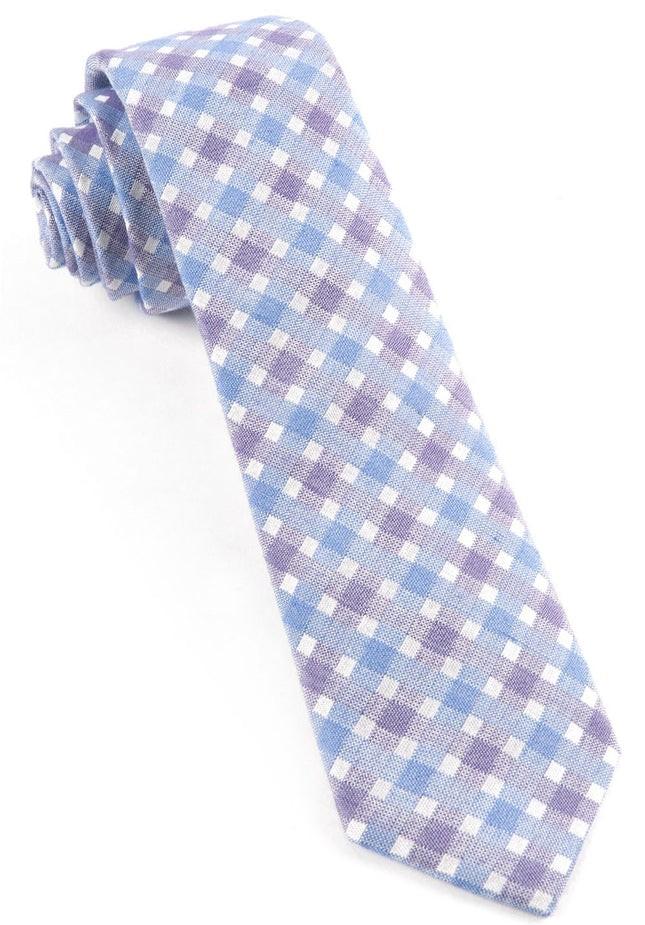 Plaid Bliss Violet Tie
