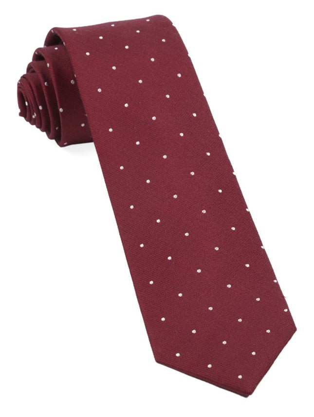 Dotted Report Red Tie