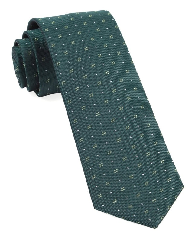 Geo Key Hunter Green Tie