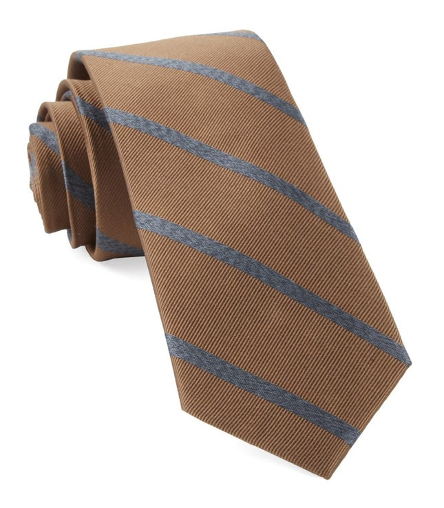 Wheelhouse Stripe Camel Tie