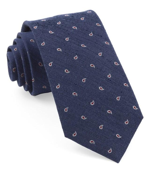 Budding Paisley Navy Tie