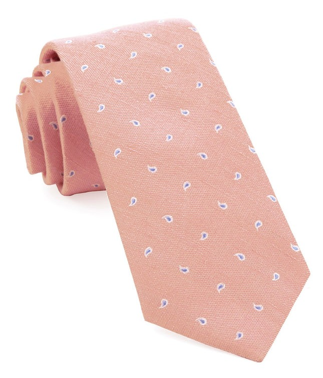 Budding Paisley Pink Tie