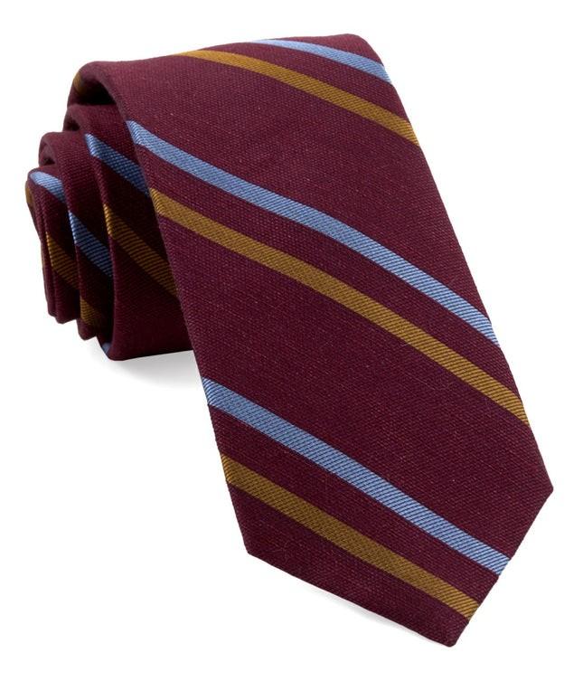 Pep Stripe Burgundy Tie