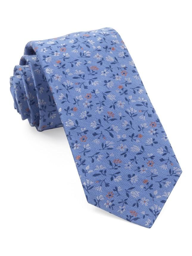 Floral Acres Light Blue Tie