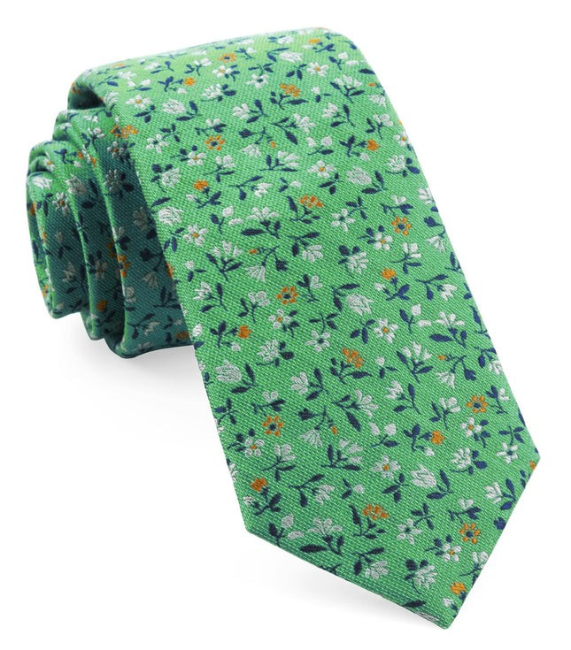 Floral Acres Mint Tie