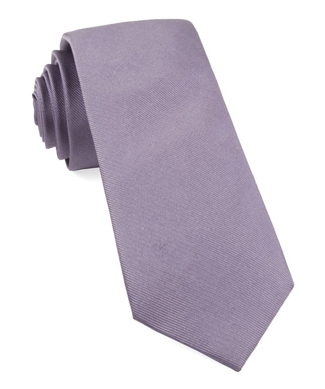 Grosgrain Solid Lavender Tie