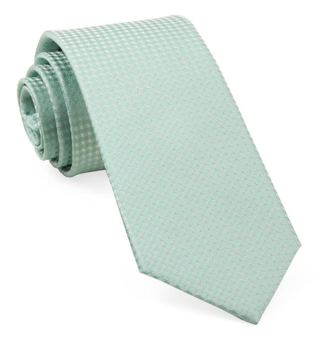 Be Married Checks Spearmint Tie