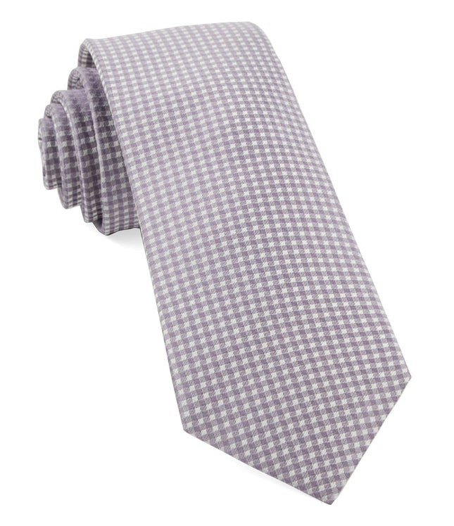 Be Married Checks Lavender Tie