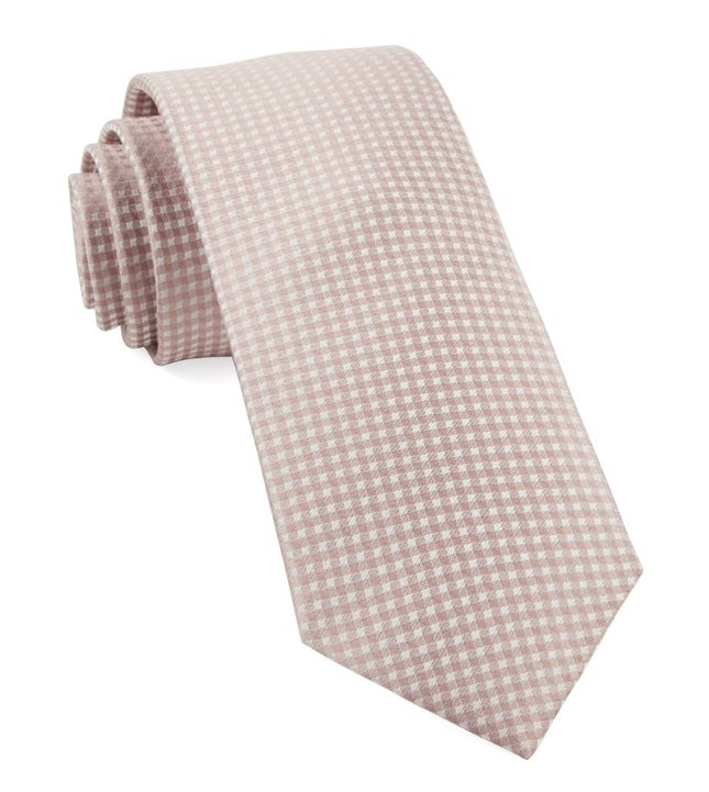 Be Married Checks Soft Pink Tie