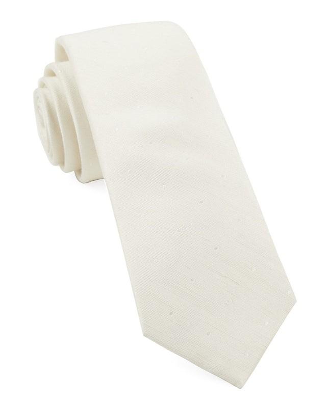 Bulletin Dot Ivory Tie