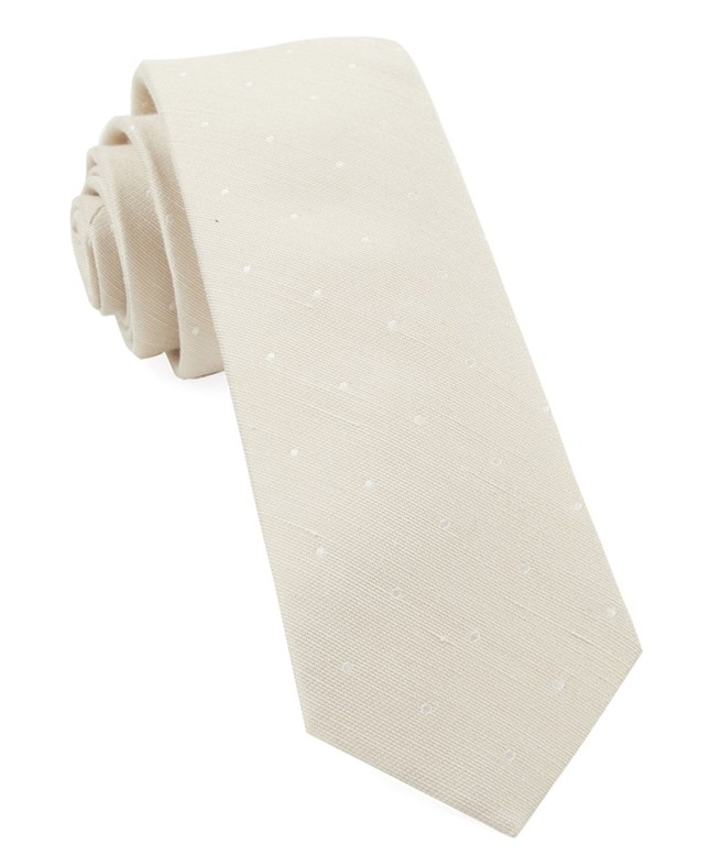Bulletin Dot Light Champagne Tie