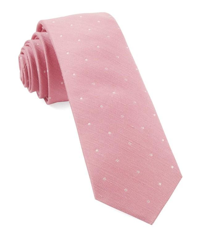 Bulletin Dot Pink Tie