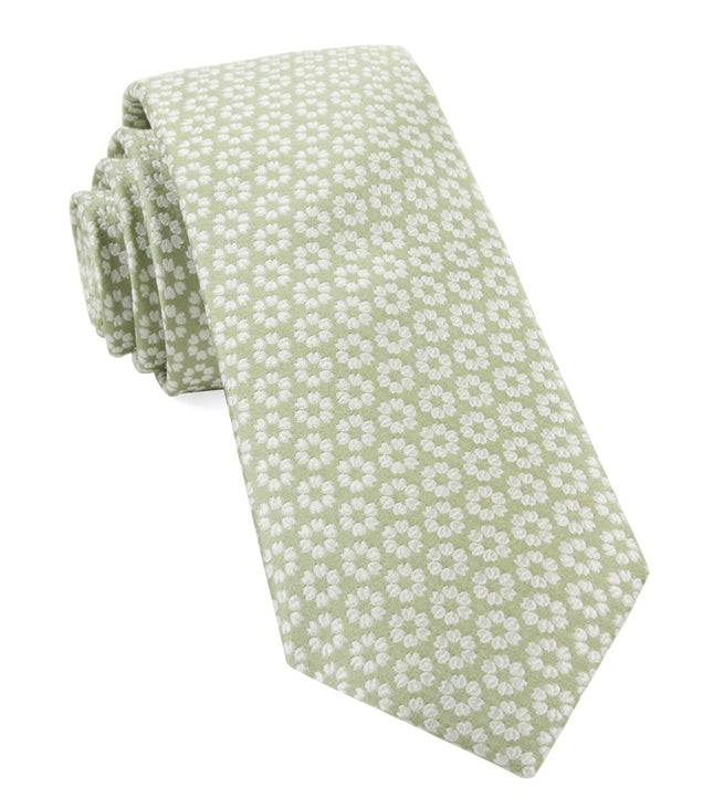 First Look Floral Sage Green Tie