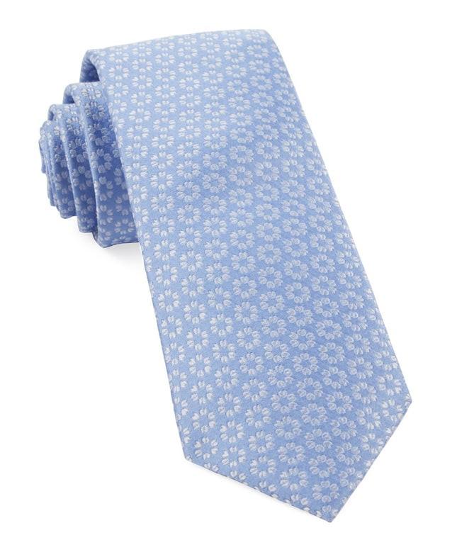 First Look Floral Periwinkle Tie