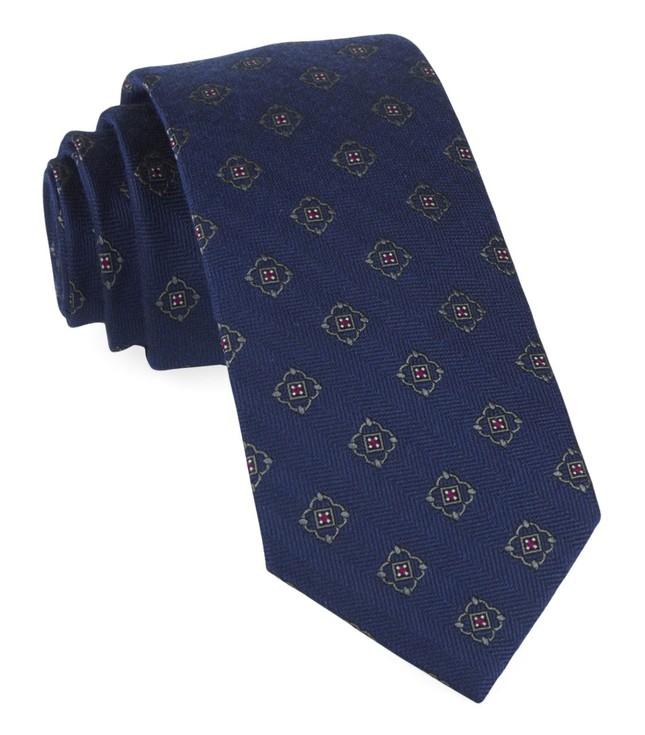 Medallion Shields Navy Tie