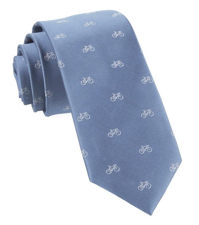 Two-Wheeler Bicycle Slate Blue Tie