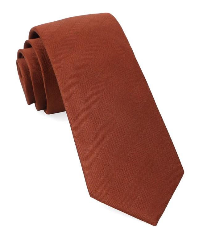 Herringbone Vow Copper Tie