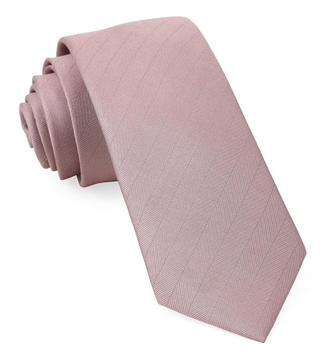 Herringbone Vow Mauve Stone Tie