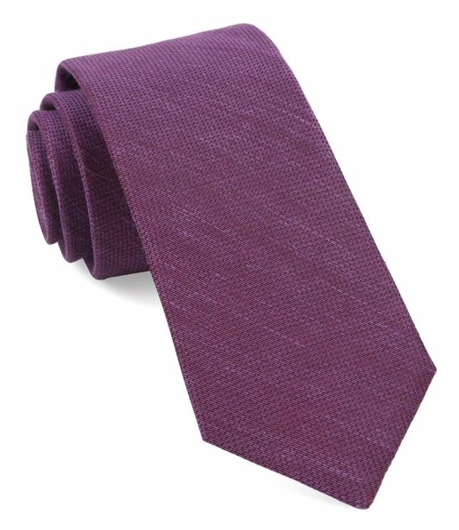 Jet Set Solid Azalea Tie