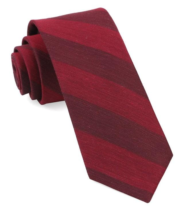 Rsvp Stripe Burgundy Tie