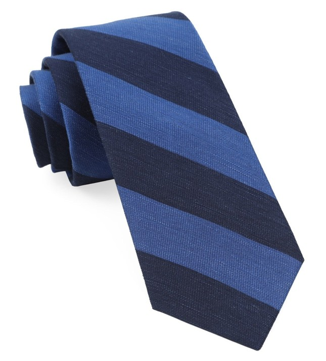 Rsvp Stripe Navy Tie