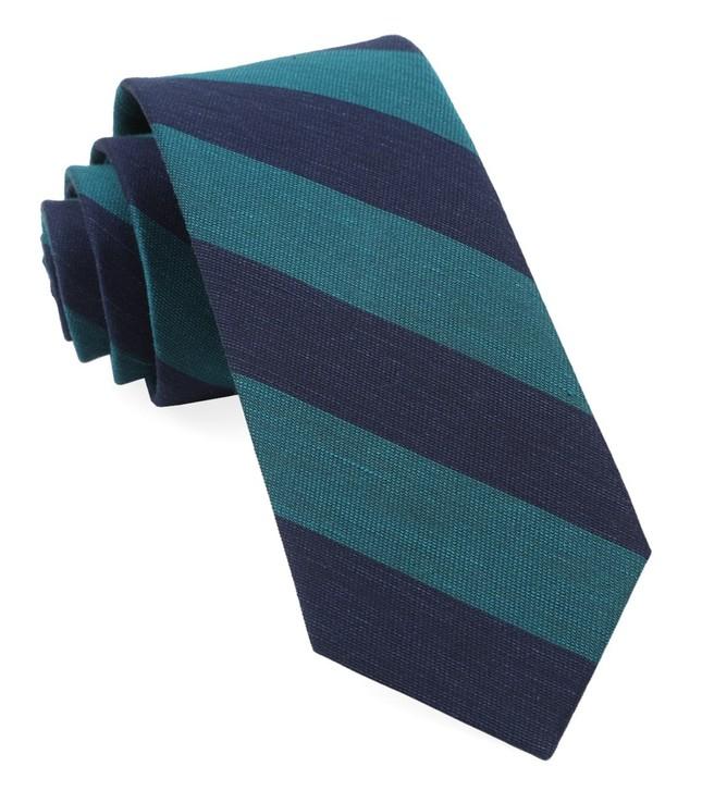 Rsvp Stripe Teal Tie