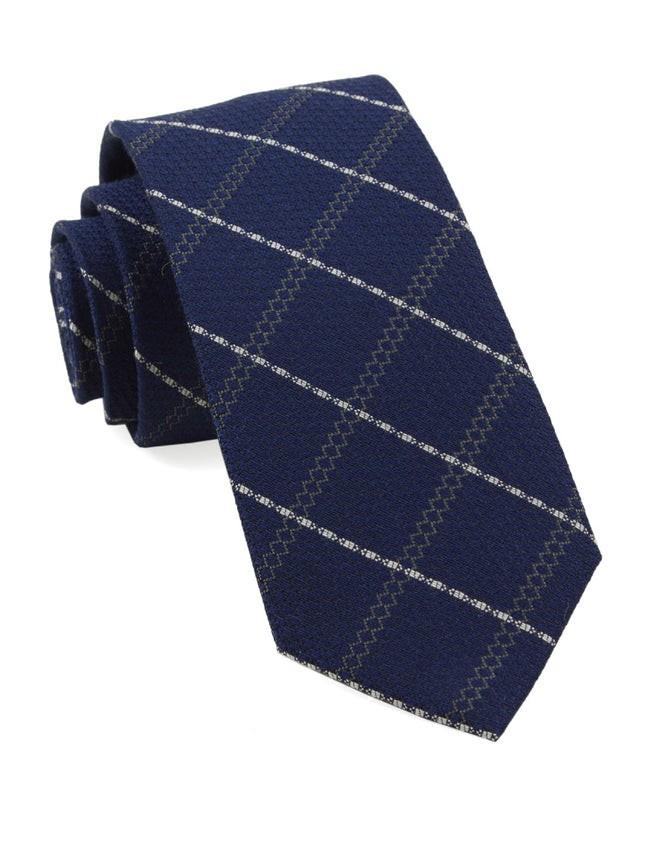 Gem Plaid Navy Tie
