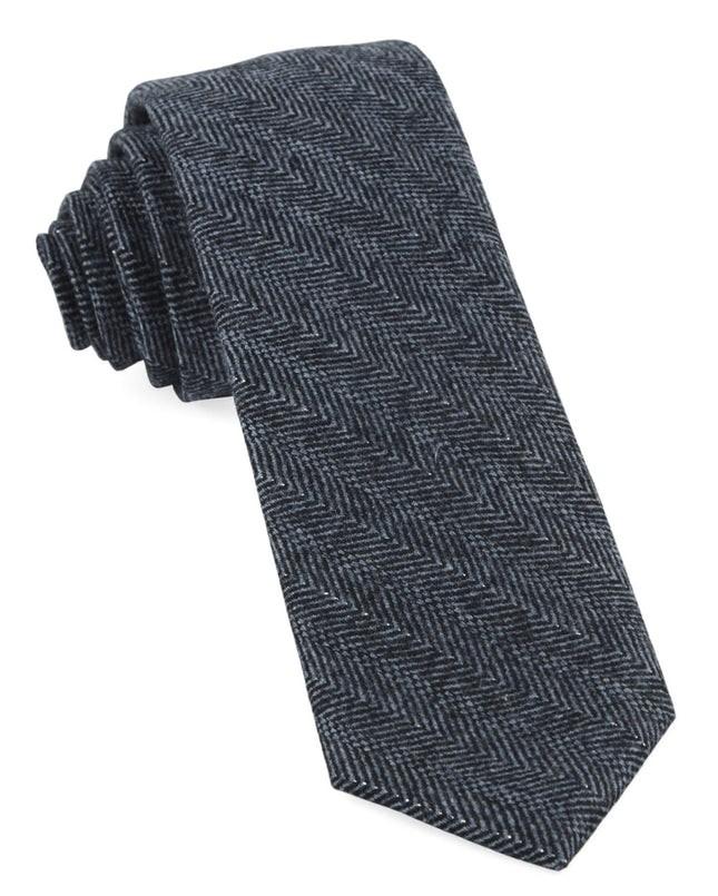 Blue Ridge Herringbone Midnight Navy Tie