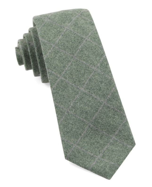 Printed Flannel Paine Hunter Green Tie