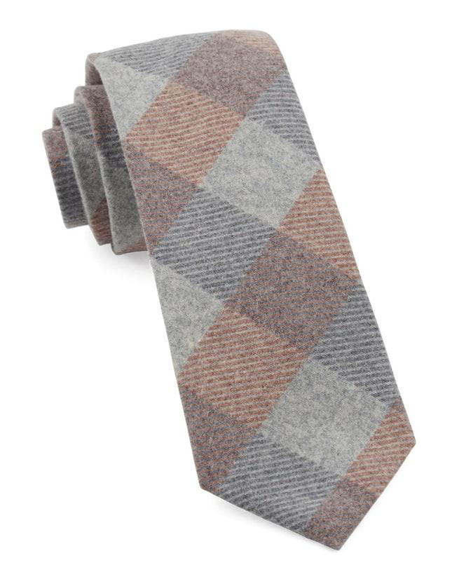 Tebo Plaid Orange Tie