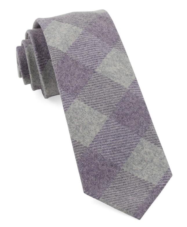 Tebo Plaid Plum Tie
