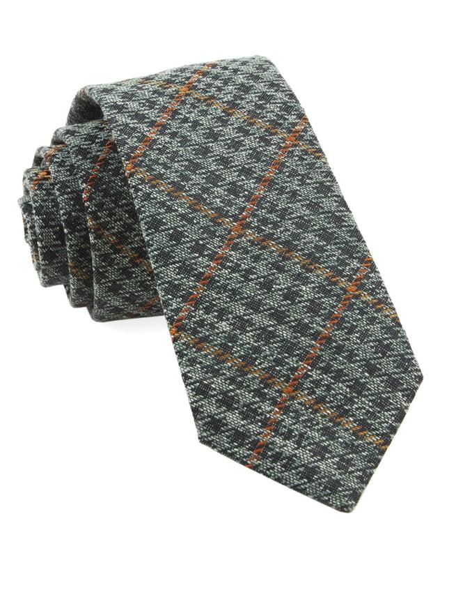 Quinn Plaid Moss Green Tie