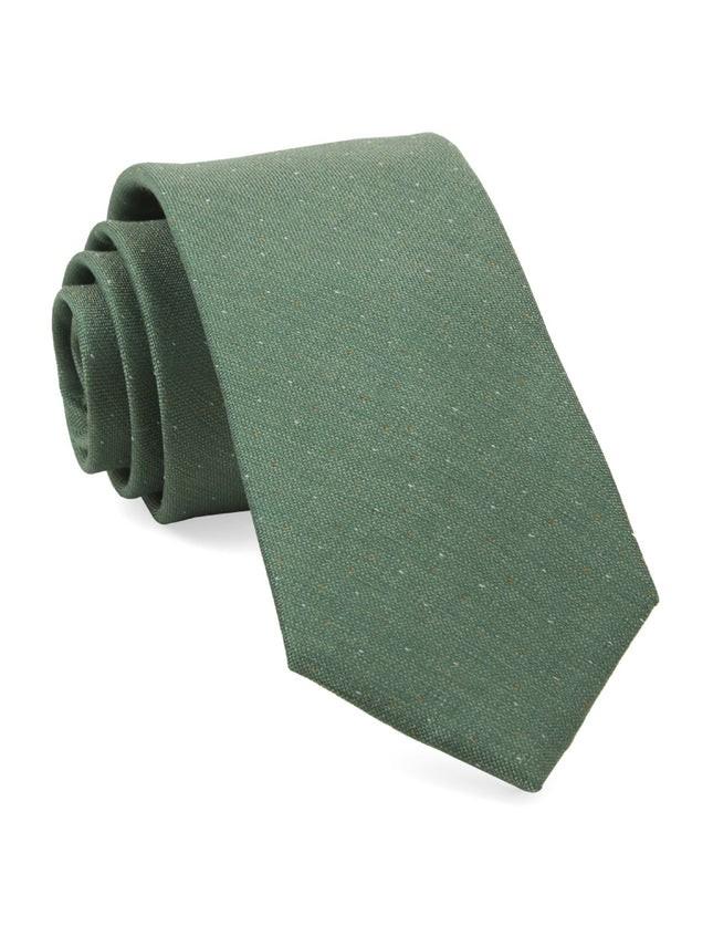 Flecked Solid Green Tie