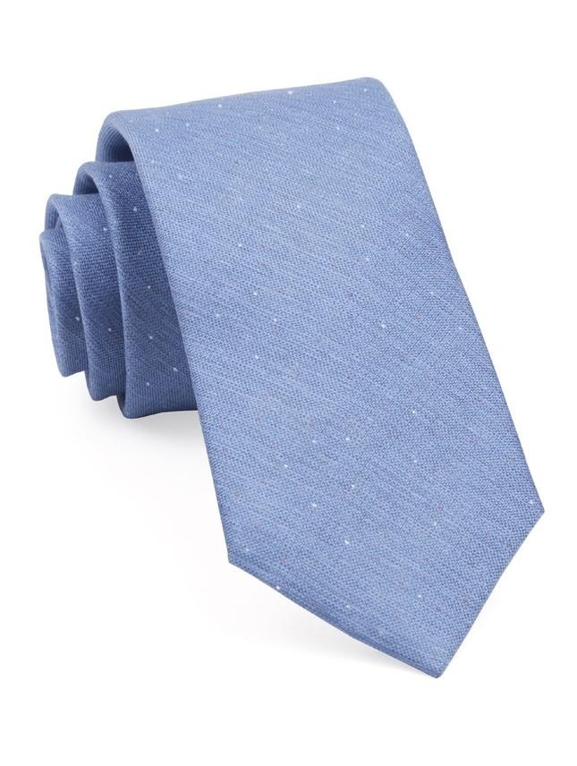 Flecked Solid Light Blue Tie