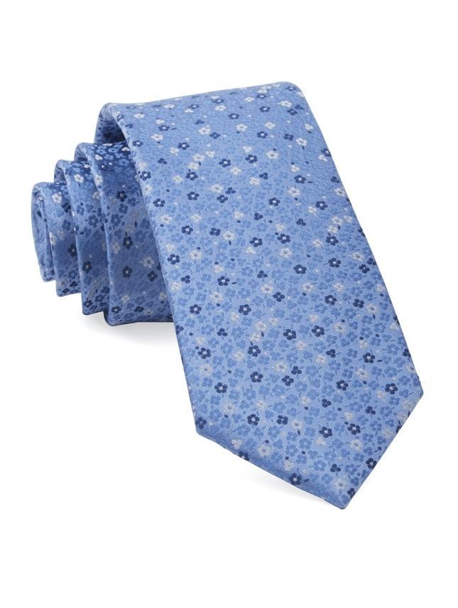 Flower Fields Light Blue Tie